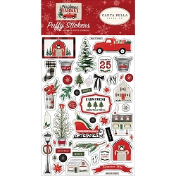 Carta Bella - Christmas Market Collection - Puffy Stickers