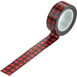 Carta Bella - Christmas Market Collection - Buffalo Plaid Decorative Tape
