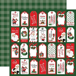Carta Bella - Dear Santa Collection - Tags 12
