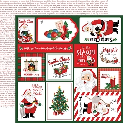 Carta Bella - Dear Santa Collection - Multi Journaling Cards 12