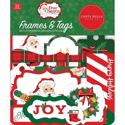 Carta Bella - Dear Santa Collection - Die Cut Tags & Frames