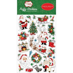 Carta Bella - Dear Santa Collection - Puffy Stickers
