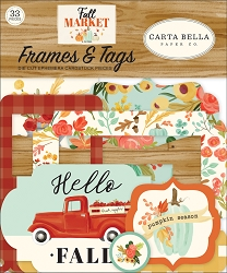 Carta Bella - Fall Market Collection - Die Cut Tags & Frames