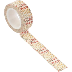 Carta Bella - Fall Market Collection - Fall Floral Decorative Tape