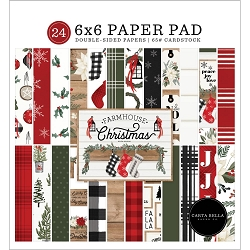 Carta Bella - Farmhouse Christmas Collection - 6x6 Paper Pad