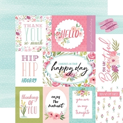 Carta Bella - Flora No.3 Collection - Bright Journaling Cards 12
