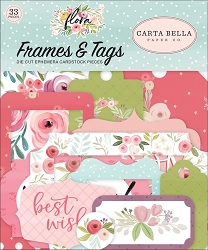 Carta Bella - Flora No.3 Collection - Die Cut Tags & Frames