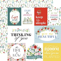 Carta Bella - Flora No.4 Collection - Bold Journaling Cards 12