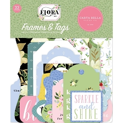 Carta Bella - Flora No.4 Collection - Die Cut Tags & Frames