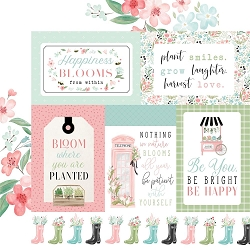 Carta Bella - Flower Garden Collection - Multi Journaling Cards 12