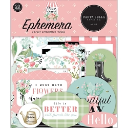 Carta Bella - Flower Garden Collection - Die Cut Ephemera