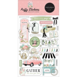 Carta Bella - Flower Garden Collection - Puffy Stickers