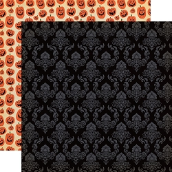 Carta Bella - Happy Halloween Collection - Ghostly Damask 12