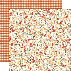 Carta Bella - Hello Autumn Collection - Swirly Leaves 12