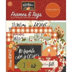 Carta Bella - Hello Autumn Collection - Die Cut Tags & Frames