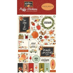 Carta Bella - Hello Autumn Collection - Puffy Stickers