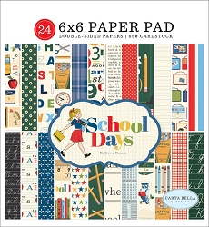 Carta Bella - School Days Collection - 6x6 Paper Pad