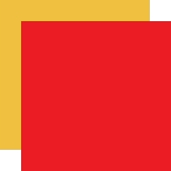 Carta Bella - School Days Collection - Red/Yellow 12