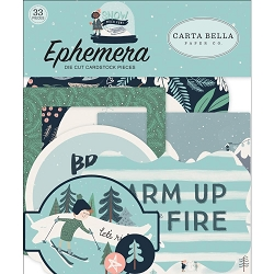 Carta Bella - Snow Much Fun Collection - Die Cut Ephemera