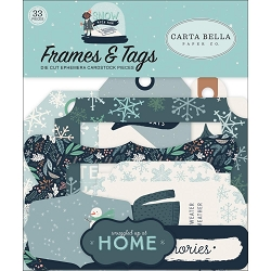 Carta Bella - Snow Much Fun Collection - Die Cut Tags & Frames
