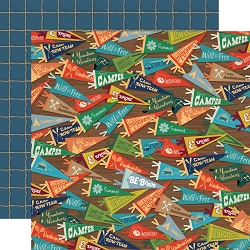 Carta Bella - Summer Camp Collection - Camp Pennants 12