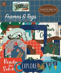 Carta Bella - Summer Camp Collection - Die Cut Tags & Frames