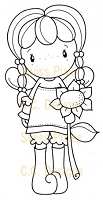 C.C. Designs - Cling Mounted Rubber Stamp - Swiss Pixie Birgitta