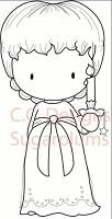 C.C. Designs - Cling Mounted Rubber Stamp - Sugarplums Candle Emma