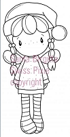 C.C. Designs - Cling Mounted Rubber Stamp - Swiss Pixie Santa Birgitta