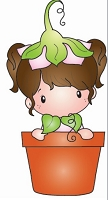 C.C. Designs - Cling Mounted Rubber Stamp - Swiss Pixie Potted Lucy