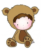 C.C. Designs - Cling Mounted Rubber Stamp - Teddy Bauregard