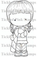 C.C. Designs - Cling Mounted Rubber Stamp - Candy Cane Cherrie