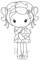 C.C. Designs - Cling Mounted Rubber Stamp - Cupcake Kiki La Rue