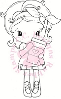 C.C. Designs - Cling Mounted Rubber Stamp - Latte Kiki La Rue