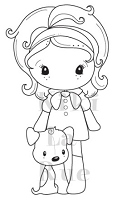 C.C. Designs - Cling Mounted Rubber Stamp - Puppy Kiki La Rue