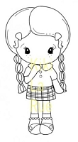 C.C. Designs - Cling Mounted Rubber Stamp - Shy Kiki La Rue