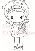 C.C. Designs - Cling Mounted Rubber Stamp - Spring Kiki La Rue