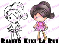 C.C. Designs - Cling Mounted Rubber Stamp - Banner Kiki La Rue