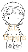 C.C. Designs - Cling Mounted Rubber Stamp - Sugarplums Autumn Emma