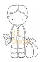 C.C. Designs - Cling Mounted Rubber Stamp - Sugarplums Autumn Trevor