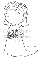 C.C. Designs - Cling Mounted Rubber Stamp - Sugarplums Bride Emma