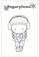 C.C. Designs - Cling Mounted Rubber Stamp - Sugarplums Brrr Emma