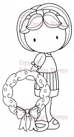 C.C. Designs - Cling Mounted Rubber Stamp - Christmas Emma