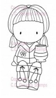 C.C. Designs - Cling Mounted Rubber Stamp - Sugarplums Cocoa Emma