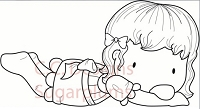 C.C. Designs - Cling Mounted Rubber Stamp - Sugarplums Holiday Emma
