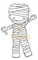 C.C. Designs - Cling Mounted Rubber Stamp - Sugarplums Mummy Trevor