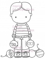 C.C. Designs - Cling Mounted Rubber Stamp - Sugarplums Ornament Trevor