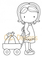 C.C. Designs - Cling Mounted Rubber Stamp - Sugarplums Pumpkin Emma