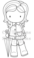 C.C. Designs - Cling Mounted Rubber Stamp - Rainy Day Emma