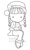 C.C. Designs - Cling Mounted Rubber Stamp - Sugarplums Santa Emma